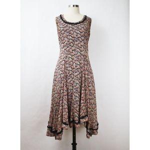 Jigsaw Patterned Silk Swing Dress